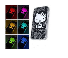 Hello Kitty Sense Flash Light LED Hard Case For iPhone 4 --  6 Colors Change