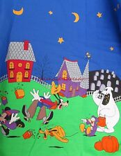 Disney Minnie Mickey Mouse Donald Duck Halloween Border Print Fabric 60wd f919