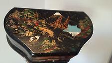 BOITE A BIJOUX BOITE A MUSIQUE CHINE CHINOIS VINTAGE BOIS LAQUE STYLE ART DECO