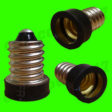 E14 SES To E12 CES BLACK Light Bulb Adaptor Converter Lamp Holder LED UK SELLER.