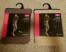 Catherine Malandrino Heather Fleece Lined Footless Tights Beige-Tan S/M
