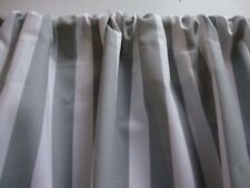 "Gray and White Stripe Valance Window Treatment Curtain Custom Made 42""W X 14""L"