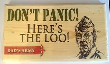 Large Don't Panic! Here's The Loo! Plaque / Sign -  Dads Army Toilet Notice
