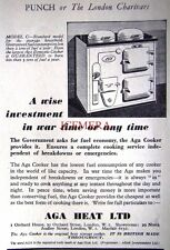 1939 'AGA COOKER' Kitchen Cooking Range AD #8 - Small Art Deco Print ADVERT