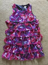 Girls Place Pink, Purple And Black Flowered Dress Size 14