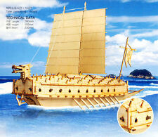 Turtle Ship Junior Wooden Model Construction Kit 3D Woodcraft by YongModeler