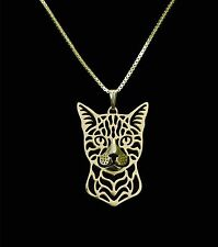 Bengal Cat Pendant Necklace -  Fashion Jewellery - Gold Plated