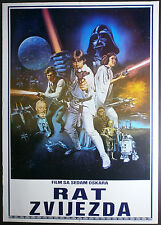 STAR WARS Harrison Ford Lucas 1977 CHANTRELL ART ORIGINAL YUGO MOVIE POSTER