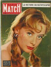 Paris Match n°256 - 1954 - Geneviève Page - Charlie Chaplin - Gaston Rebuffat