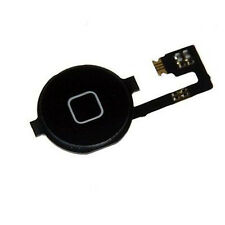 Home Menu Button Flex Cable  Key Cap Assembly for Apple iPhone 4S Black New