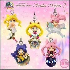 "Twinkle Dolly Sailor Moon3 ""Sailor Moon"" Mini Figure charm all Set of 5 Bandai"