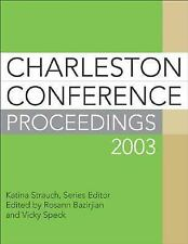 Charleston Conference Proceedings 2003, Library Management, General, General AAS
