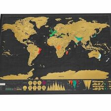 Carte du Monde à Gratter 82.5 x 59.5 cm Voyage Mural Affiche Scratch Map Wall