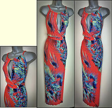 WOMENS ladies stunning long casual day MAXI DRESS bright pretty Plus SIZE 18-20