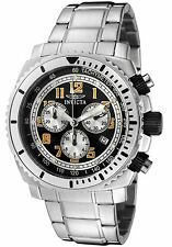 New Invicta Men's 0616 II Swiss Chrono Black Dial Stainless Watch