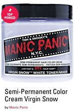 Manic Panic 'Virgin Snow- White Toner/Mixer' SemiPerm Vegan HairColor 4oz. 118ml