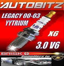 FITS SUBARU LEGACY 3.0V6 00-03 BRISK SPARKPLUG X6 PLFR6A-11 YYTRIUM