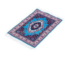 Vintage Doll House Miniature Carpet Turkish Woven Floral Rug Floor Cover A#