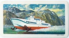 VINTAGE TRADING CARD ~ HYDROFOIL #44 ~ TRANSPORTATION SERIES  RED ROSE TEA CARD