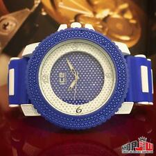 Mens BM Bling Master Hip Hop Style Watch Blue White Two Tone Design Fashion New