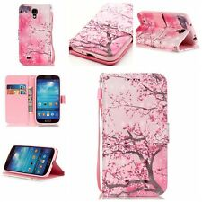 Painted Leather Wallet Flip Case Cover W Stand For Samsung Galaxy S 4 IV i9500