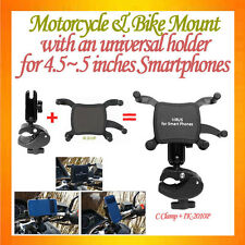 "C-shape C Clamp Mount Motorcycle Mount+Universal Holder for 4.5~5.5"" smartphones"