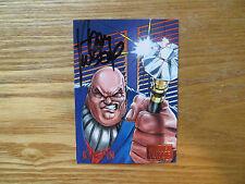 1995 FLEER MARVEL VS DC KINGPIN CARD SIGNED ADAM KUBERT, WITH POA