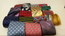 LOT 50 SILK NECKTIES DESIGNER QUILT CRAFT SEW VARIETY PATTERNS MULTI COLOR TIE
