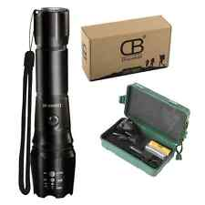 Discoball® Rechargeable Torchs CREE XM-L T6 LED Zoomable Flashlight Torch + 1x1