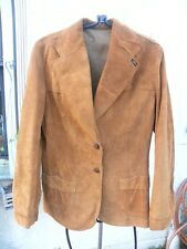 LEE GORGEOUS WESTERN LEATHER SUEDE RUSSET BROWN 70'S JACKET SZ 12