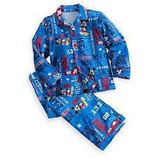 DISNEY STORE MICKEY MOUSE SOFT FLANNEL PAJAMA SET HOLIDAY BOYS SIZE 3 NWT