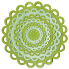 Lifestyle Crafts QuicKutz ~ NESTING LACE CIRCLES ~ Mounting -7 Dies -DC0153