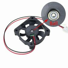 12V 2Pin DC 50x50x10mm 50mm 5cm Brushless Computer Cooling IDE Fan Ball Bearing
