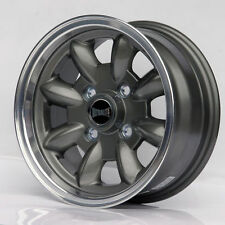 "ULTRALITE CLASSIC MINI 13"" x 7J ET10 GUN METALIC POLISHED LIP ALLOY WHEELS Z2932"