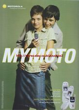 "Motorola V220 ""Mymoto"" Mobile Phone 2004 Magazine Advert #138"