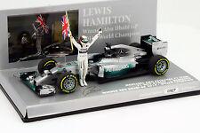 L. Hamilton Mercedes F1 W05 Hybrid #44 Weltmeister Abu Dhabi GP F1 2014 1:43 Min