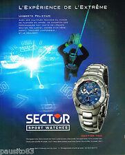 PUBLICITE ADVERTISING 065  2000  SECTOR 750  montre UMBERTO PELIZZARI plongée