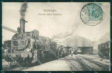 Imperia Ventimiglia Stazione Treno cartolina QT4917