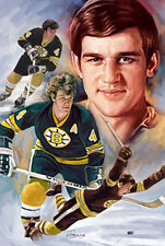 Bobby Orr : giclee print on canvas poster painting for autograph  N-268