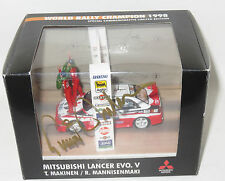 1/43 Mitsubishi Lancer Evo V World Champion Podium Edition Tommi Makinen SIGNED