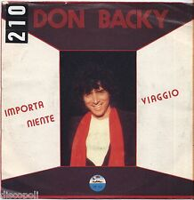 "DON BACKY - Importa niente - VINYL 7"" 45 LP 1981 VG+/VG- CONDITION"