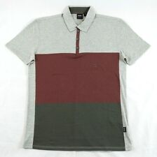Hugo Boss GR-Lentella Collared Maroon-Gray T-Shirt Sz. L BNWT 100% Authentic