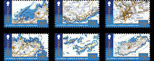 Alderney - Postfris/MNH - Complete set 1st Edition Alderney and Burhou Map 2017