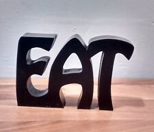 """FREE STANDING WOODEN PLAQUE """"EAT""""wooden letters"""