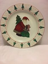 "Sakura Magic of Santa 12.5"" Round Platter Chop Plate Christmas by Debbie Mumm"