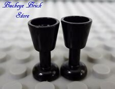 LEGO Minifig BLACK GOBLET Wine Water Goblet Drinking Glass - Kitchen NEW