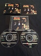 AC/DC LIVE DOUBLE CD PROMO SAMPLE SONY AUSTRALIA  ALBERT PRODUCTIONS 472652 2