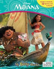 Disney Moana My Busy Book ,12 Figurines & Playmat Brand New Free P & P