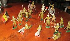 Soldats en plomb creux Armée Belge 18 figurines JSF JF Mignot aludo quiralu