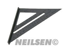 "New 6"" Aluminium Alloy Square Measuring Tool Roofing Triangle Joiners Joinery"